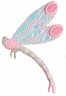 2 1/4'' by 2 1/8'' Dragonfly Applique-0