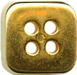 1/2'' - Gold Square - 4 Hole Metal Button -0