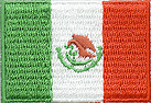1 1/4'' by 2'' Iron On Flag Applique-Mexico-0