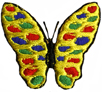 1 1/4'' by 1 3/8'' Iron On Butterfly Applique-0