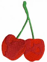 2 1/4'' by 3 3/8 Cherry Applique-0