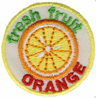1 3/8'' - 3.5cm - Fresh Fruit Orange Iron On Applique-0