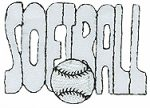 2 1/2'' by 1 3/4'' SOFTBALL Iron On Applique-0