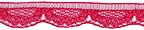 3/8'' Raspberry Lace Trim-0