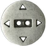 7/8'' - 2 Hole - Silver Metal Button-0