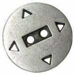 13/16'' - 2 Hole Silver Metal - Button-0