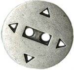 11/16'' - 2 Hole - Silver Metal - Button-0