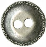 11/16'' - 2 Hole Antique Silver - Metal Button-0