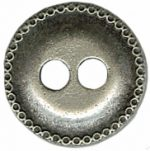 9/16'' - Metal Silver - 2 Hole Button-0