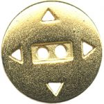 7/8'' - 2 Hole - Gold Metal Button-0