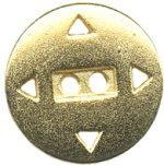 13/16'' - 2 Hole - Gold Metal Button-0