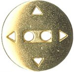 11/16'' - 2 Hole - Gold Metal Button-0