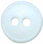 7/16'' - 2 Hole - Very Pale Mint - Button-0