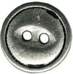 9/16'' - 2 Hole Silver Metal - Button-0