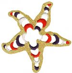 2 7/8'' - 7.3cm - Starfish Applique-0