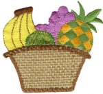 2 7/8'' by 2 5/8'' Iron On Fruit Basket Applique-0