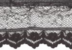 5/8'' Black Lace with Selvage-0
