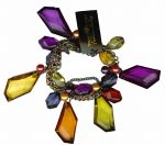 Traci Lynn Fasion Jewerly Multi Colored Jeweled Bracelet-0