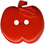 11/16'' - Red Apple - 2 Hole - Button-0