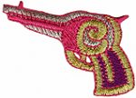 1 3/8'' by 2 1/4'' Iron On Pistol Applique-0