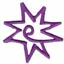 1 5/8'' by 1 5/8'' Iron On Purple Star Applique-0