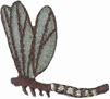 1 3/8'' by 1 1/4'' Dragonfly Applique-0