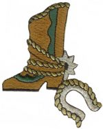 2 3/4'' by 3 1/4'' Iron On Cowboy Boot Applique-0
