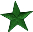 1 3/8'' - 3.5cm Green Iron On Star Applique-0