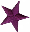 1 3/8'' - 3.5cm Purple Star Applique-0