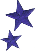 2 Piece Star Applique Set - Royal Blue-0