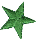 7/8'' - 2.2cm Iron On Green Star Applique-0