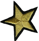 2'' - 5.1cm - Metallic Gold Star Applique-0