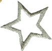 1 1/2'' - 3.8cm by - Metallic Silver Star Applique-0