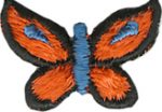 1'' by 5/8'' Iron On Butterfly Applique-0