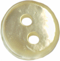 3/8'' - 2 Hole - Pearl - Button-0