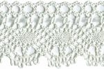 1 15/16'' Off White Cluny Rayon Lace with 1/8'' Satin Ribbon-0