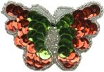 2 1/4'' by 1 1/2'' Christmas Butterfly with Pin Back -0