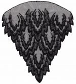 10 1/2'' by 9 1/8'' Black Netting Applique-0