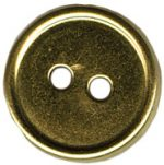 9/16'' - Gold Metal - 2 Hole Button-0