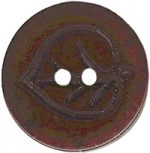 7/8'' - Dark Brown - 2 Hole Button-0