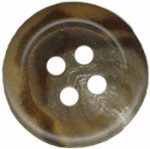 9/16'' - Marbled Brown - 4 Hole Button-0