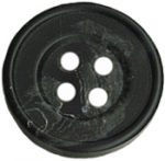 9/16'' - 4 Hole - Black Marbled Button-0