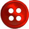 3/8'' - Red - 4 Hole - Button-0