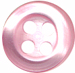 1/3'' - Shiny Pink - 4 Hole Button-0