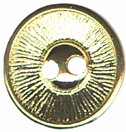 9/16'' - Gold - 2 Hole Button-0
