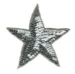 2 3/4'' - 7cm - Silver Star Applique-0