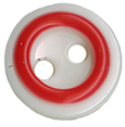 1/2'' - White/Red - 2 Hole Button-0
