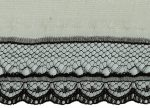 1'' Black Lace with 5/8'' Ivory Selvage-0