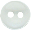 3/8'' - Clear - 2 Hole - Button-0