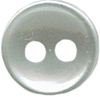 3/8'' - Pearl White - 2 Hole - Button-0